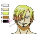 Sanji One Piece Embroidery Design 02